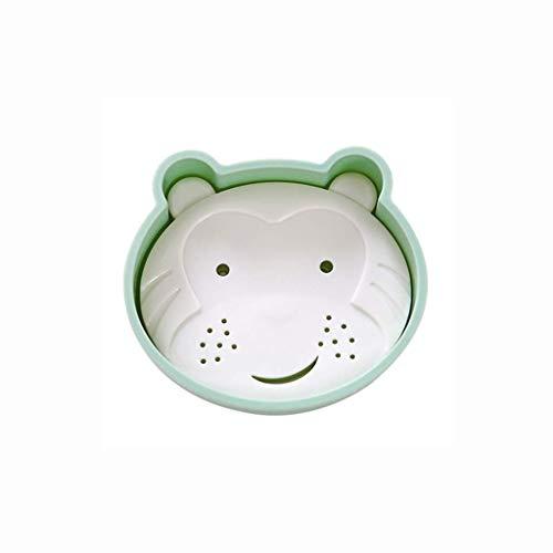 PYROJEWEL Caja Linda de jabón, jabón Caja de niños, Simple Doble Capa sostenedor del jabón, jabón Caja Linda