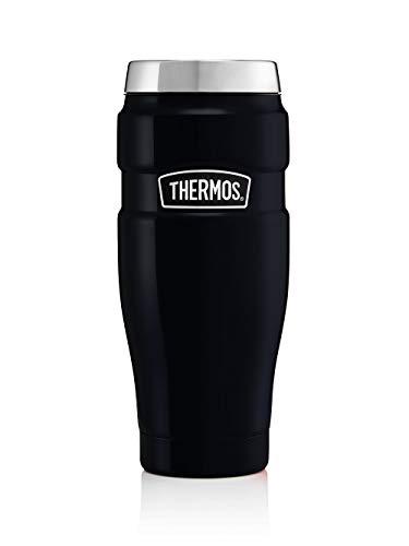 THERMOS Thermobecher Stainless King, Kaffeebecher to go Edelstahl blau 470ml, Isolierbecher spülmaschinenfest, dicht, 4002.256.047, Coffee to Go 7 Stunden heiß, 18 Stunden kalt, BPA-Free