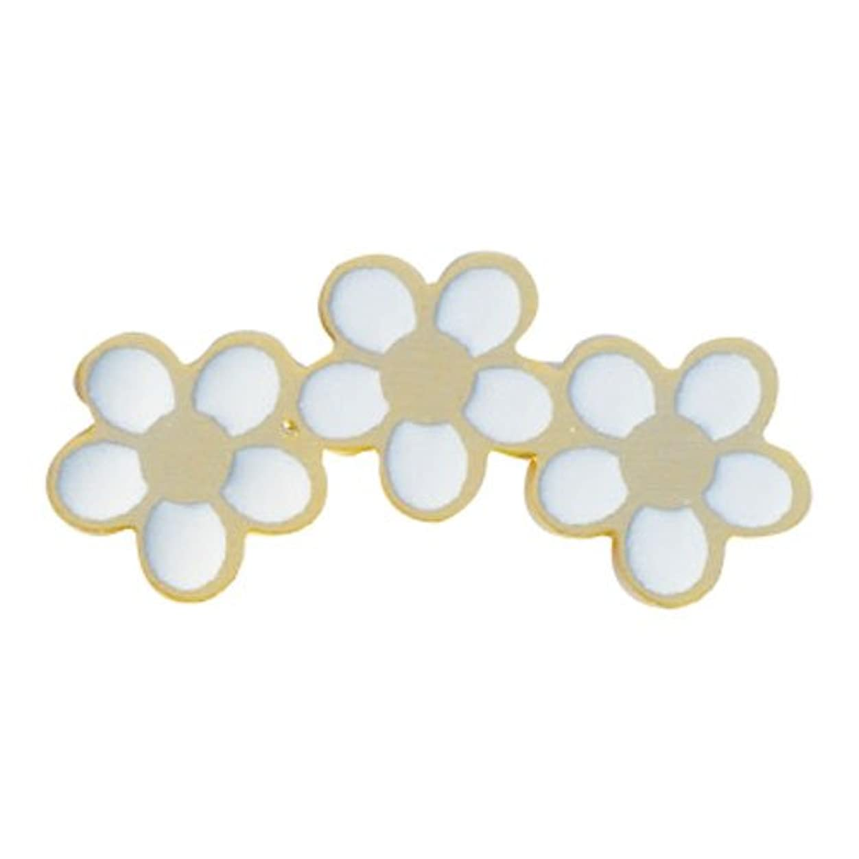 やりがいのある限りカエルリトルプリティー ネイルアートパーツ PWチャーミングフラワー3連 ゴールド 10個