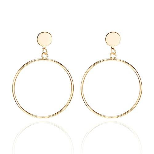 1 piercing de oreja para niñas minimalista círculo pendientes accesorios diarios