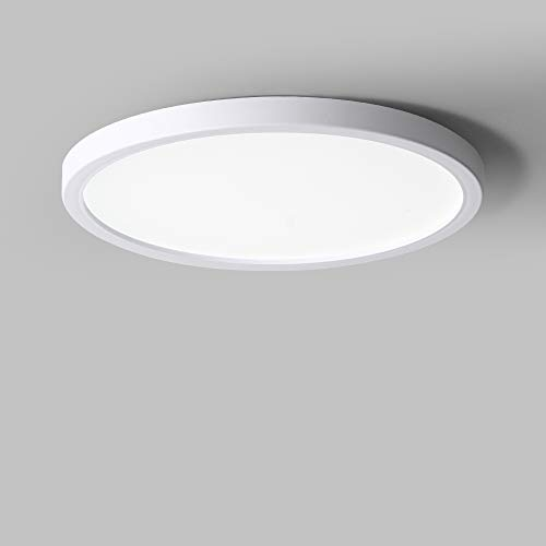 LVL 9W LED Ceiling Light 6000K Cold White, 810LM Dustproof IP40 Indoor Round Ceiling Lamp for Hallway Kitchen Balcony