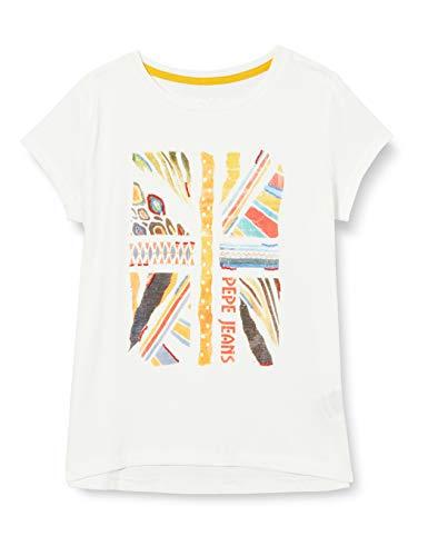 Pepe Jeans Ivy Camiseta, Blanco (Optic White 802), 12-13 años (Talla del Fabricante: 12) para Niñas