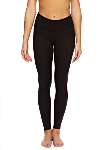Felina | Sueded Athletic Leggings | Slimming Waistband (Black, X-Small)