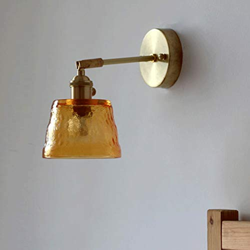 Lámpara de pared Lámparas de baño, accesorios de luces de vanidad de baño de oro con sombra de vidrio transparente, ponientes de pared de oro para baño, dormitorio, hally way, comedor Lampara de pared