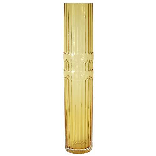 Vase Ondin en Verre Ambre Large H 50 x Diam 10 cm Eno
