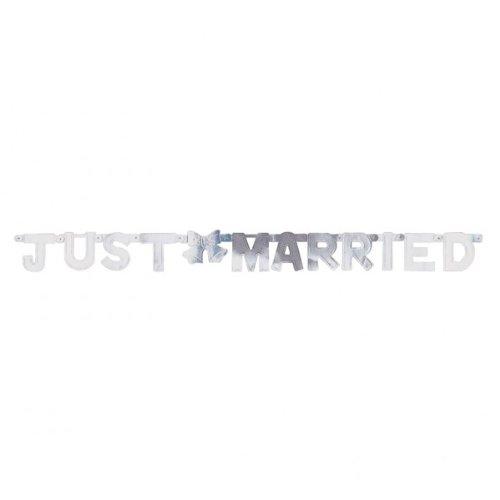 amscan Mini bannière avec Inscription « Just Married »