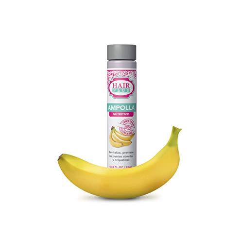 Ampolla DE Banano Hair Plus - Revitaliza El Cabello, Previene Las Puntas Abiertas Y Las Horquillas - Ampolla Nutritiva Sin Sulfato