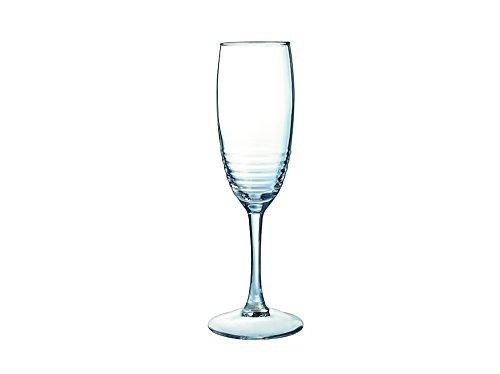Luminarc Harena Champán Cristal Flute 190ml, Cristal, Transparente, 3x 3x...