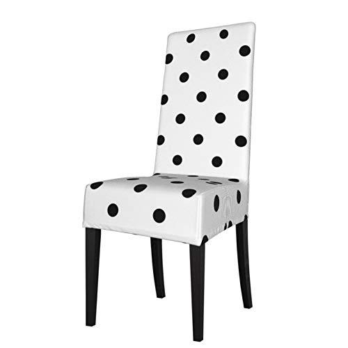 Takashimo , Funda decorativa para silla de comedor con diseño de círculos abstractos, estilo clásico, elástica, para silla de comedor