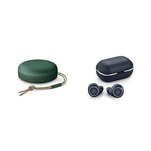 Bang & Olufsen Altavoz Beosound A1 2ageneración,Bluetooth portátil Resistente al Agua con micrófono, Verde y Beoplay E8 2.0, Auriculares inalámbricos con Bluetooth, Indigo Azul
