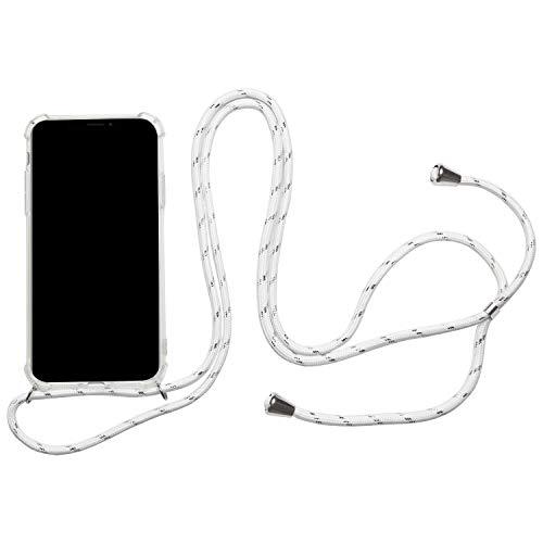 Telefoonhoesje met band voor Samsung Galaxy A50 | Bumper Case helder | beschermhoes met, Samsung Galaxy A50, wit