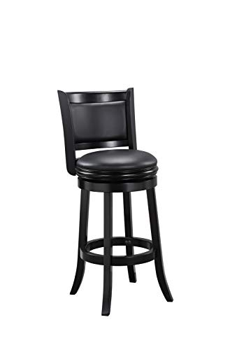 Boraam Augusta Bar Height Swivel Stool, 29-Inch, Black