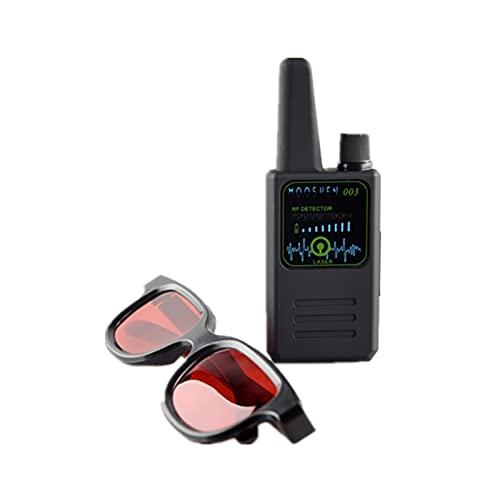 juqingshanghang1 Detectores de Radar Cámara de Detector Anti-espía multifunción G-S-M Audio Bug de Audio Finder GPS Detector de señal pequeño Lente de Infrarrojos Finder M003 Alertas