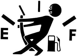 Empty Tank Gas Driving Funny Humor Laptop Decal Vinyl Car Window Sticker Bumper Die Cut