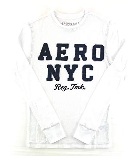 AEROPOSTALE Mens Long Sleeve Thermal Shirt X-Small White 6476