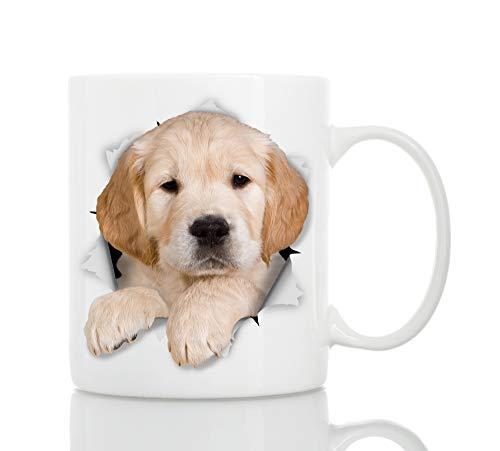 Tazza Cucciolo di Golden Retriever – Tazza da Caffè in Ceramica soggetto Cane Golden Retriever per Amanti dei Cani – Il Regalo Perfetto con soggetto Golden Retriever (330 grammi)