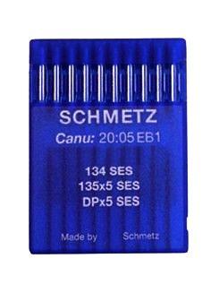 Schmetz Agujas industriales para máquina de coser: 134 SES Ball Point / Jersey – 100/16 (paquete de 10) – Compra 2 Get 3rd Free + Enhebrador de agujas (3 paquetes por el precio de 2)