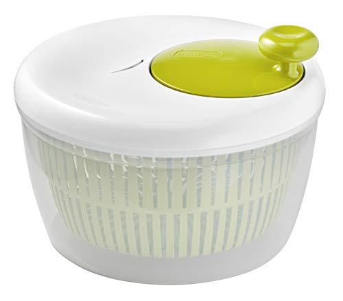 Moulinex Classic K1690104 - Centrifuga per insalata, 5 l (5/7 per), lavabile in lavastoviglie, centrifuga per insalata facile e veloce, pulsante stop, prodotto in Francia