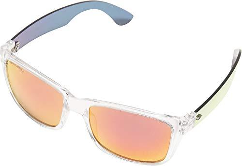 Urban Classics Unisex 110 Sunglasses UC Sonnenbrille, transparent/red, one size