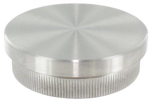 Endkappe flach, massiv, für Rohr ø 48,3 x 2,0mm, zum Einschlagen