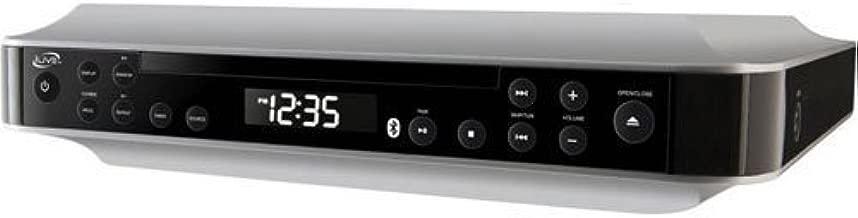 iLive Bluetooth Under The Cabinet Kitchen Clock Radio with CD Player, Bluetooth Wireless..