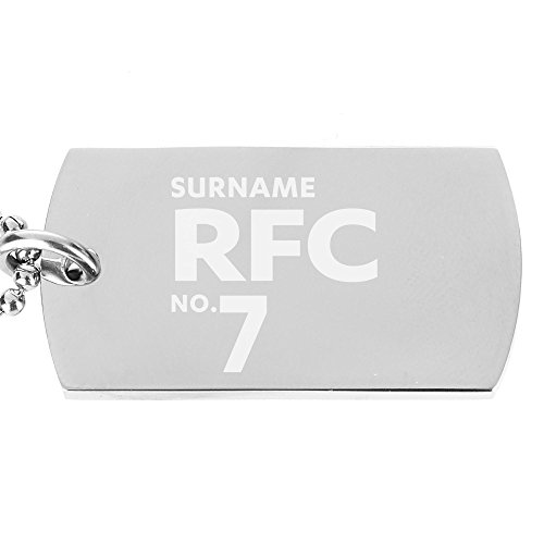 Personalised Official Reading FC Number Dog Tag Pendant