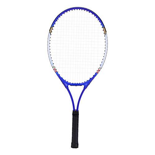 Socobeta Raqueta De Tenis De Aleación De Aluminio, Raqueta De Tenis Duradera Bonitas Raquetas De Tenis para Adultos, Paquete De 2 Antioxidantes para Accesorios De Entrenamiento(Azul)