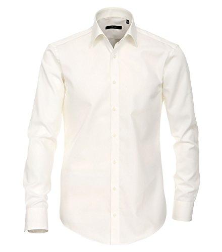 Venti Herren Businesshemd Slim Fit 001480/002, Gr. 43, Beige (002 Champagner)