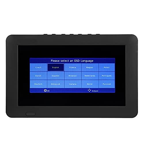 Voluxe TV Digital de 9 Pulgadas, TV Digital móvil portátil, para el hogar(Transl, European regulations, ISDB)