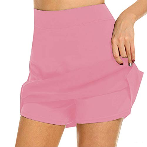 Anti-sfregamento Active Skorts Super Soft Confortevole Donna Athletic Gonne Leggero Con Pantaloncini Tasche Running Tennis