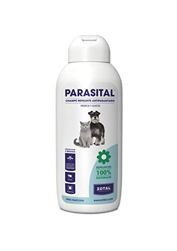 Parasital Champú Antiparasitario para Perro y Gato, 400 Ml
