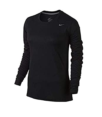 Nike Women's Long Sleeve Legend Shirt BLACK Small