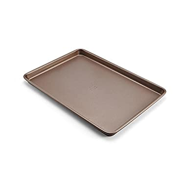 Chicago Metallic 5212096 Elite Non-Stick Carbon Steel Medium Cookie/Baking Sheet, 15-Inch-by-10-Inch, Bronze