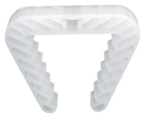 Danto 10 Stück Spar Pack Fensterklammer, Fensterstopper für Rahmenstärke 3,0 bis 5,0 cm, transparent