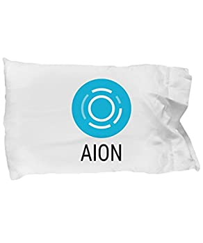 Hogue WS LLC Official Aion Cryptocurrency Standard Size White Pillow Case Crypto Miner Blockchain Invest Trade Buy Sell Hold AION
