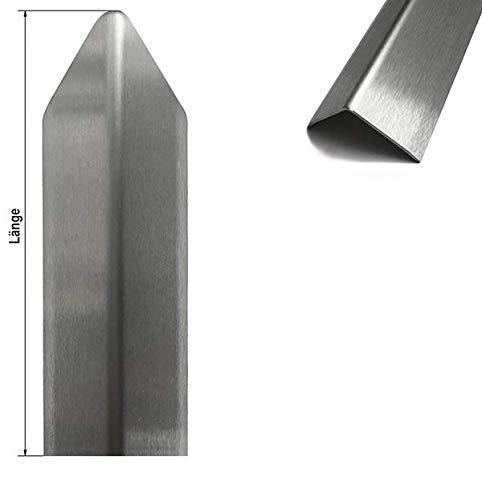 1 Edelstahl Eckschutzwinkel Modern 3 fach gekantet axb= 50 x 50mm 1,0 x 1.000mm Aussen Schliff Korn 320-