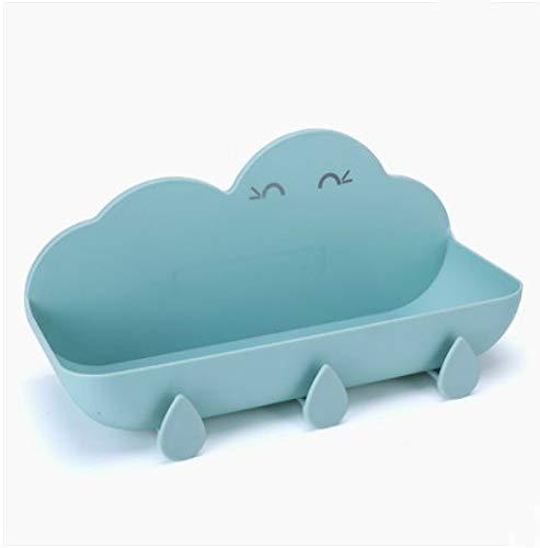 ASDF Bathroom Cute Cloud Shape Wall-Free Hole-Free Frame No Nails Drill-Free Tearing Off No Trace