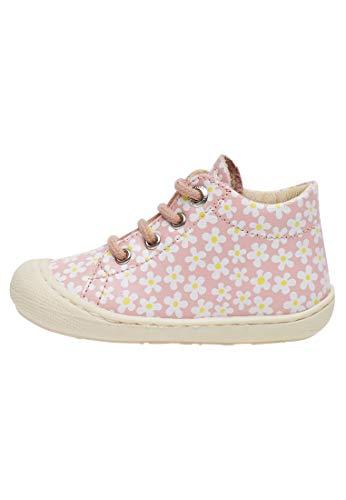 Naturino Cocoon Mädchen Lauflernschuhe Schnürsenkel Rosa Blumen, Schuhgröße:EUR 20