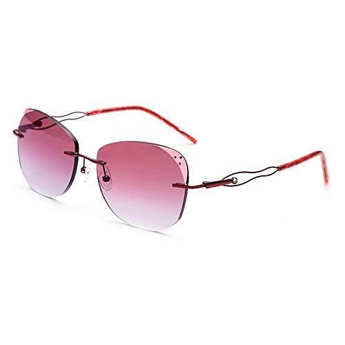 Sebasty UV400 Gafas De Sol con Adorno De Diamante Ultra Ligero Sin Marco