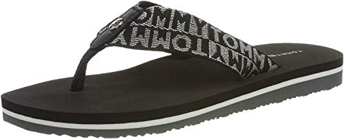 Tommy Hilfiger Shiny Jacquard Teenslippers voor dames