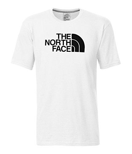 The North Face Men's Short Sleeve Half Dome Tee, TNF White & TNF Black, L