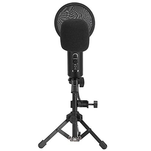 Bedrade microfoon, USB-voeding Microfoon 14,8 x 4,7i Blowout-preventienet Aluminiumlegering voor studio-opname voor…
