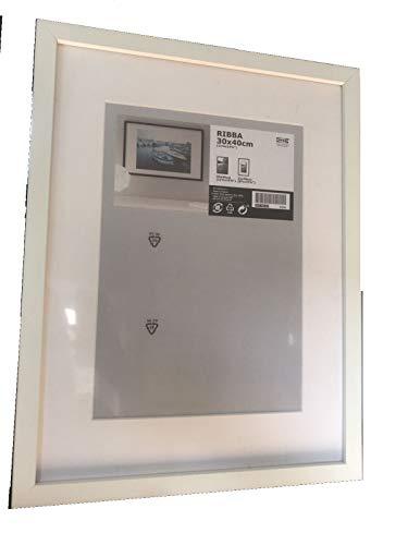 Ikea Ribba - Marco de fotos (30 x 40 cm), color blanco