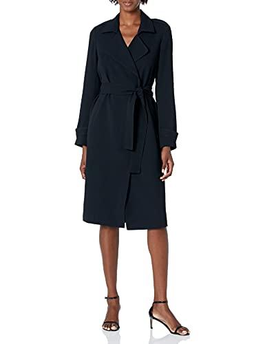 Amazon Brand - Lark & Ro Women's Lightweight Trench Coat, Black, 0
