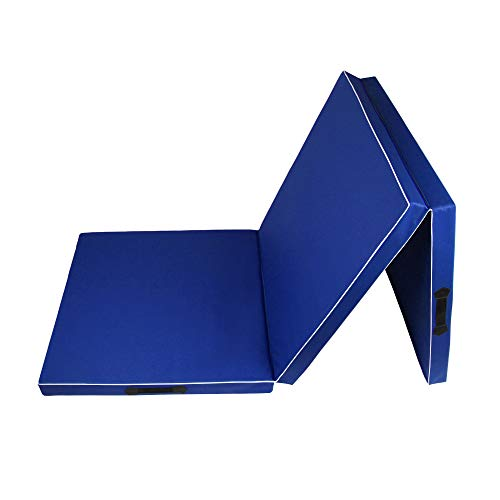 CalmaDragon 85620, Colchoneta Gimnasia, Espuma PU, Impermeable, Alfombra de Protección en 3 Paneles Plegables, 60 x 180 x 6cm, Resistente, Antideslizante, Compacta, Ligera, para Yoga, Pilates