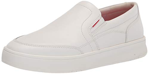 Fitflop Rally x Leather Slip-on Skates, Zapatillas Hombre, White, 45 EU