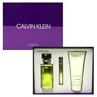 Cālvin Klēin EternÍty 3 Piece GIFT SET for Women 3.4 fl.Oz Eau De Parfume + 6.7 fl.Oz Luxurious Body Lotion + 0.33 fl.Oz Eau De Parfum