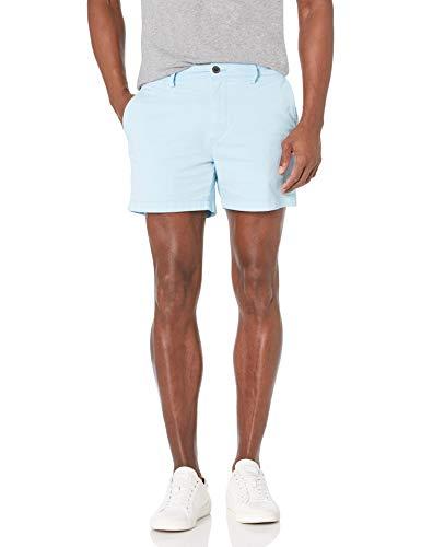 "Goodthreads Men's Slim-Fit 5"" Inseam Flat-Front Comfort Stretch Chino Shorts, -light blue, 38"