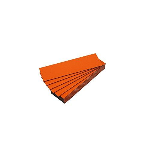 Lote de 25 etiquetas magnéticas de color (naranja, longitud 5 cm y ancho 2 cm)