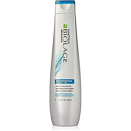 BIOLAGE Advanced Keratindose Shampoo   Moisturizes To Fight Frizz & Hair Damage  Sulfate, Paraben-Free   For Overprocessed, Damaged Hair